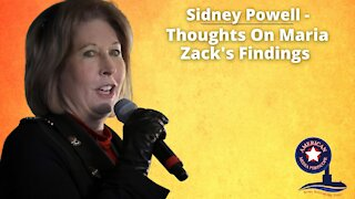 Sidney Powell - Thoughts On Maria Zack's Findings - With John Michael Chambers