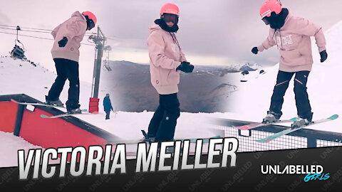 Victoria Meiller skiing in New Zealand