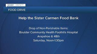 Food drive to help Sister Carmen Community Center