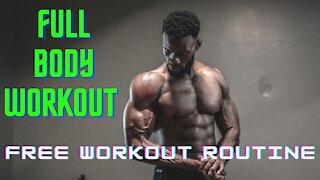 Full Body Bodybuilding Workout Routine