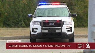 Crash leads to shooting on I-75