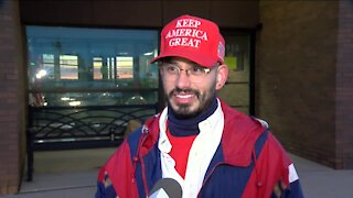 Voters react to President Trump's planned final push for support in Kenosha County