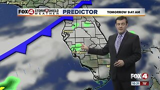 Forecast: Overnight and early morning showers will move inland Monday afternoon.