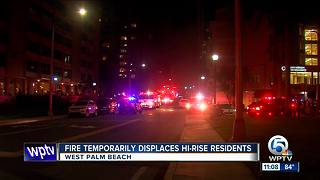 Evacuations in downtown West Palm Beach high rise fire