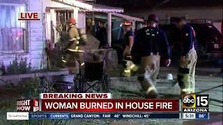 Elderly woman burned in Phoenix house fire