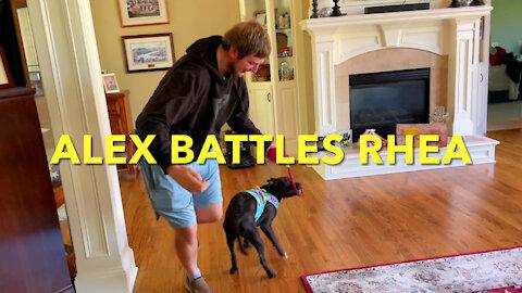 Alex Battles Rhea