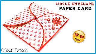 Paper craft tutorial: DIY circle envelope card