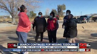 Search continues for missing toddlers