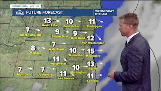 Warm day ahead with scattered storms