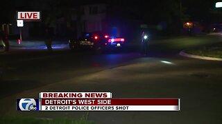 Two Detroit cops shot on city's west side