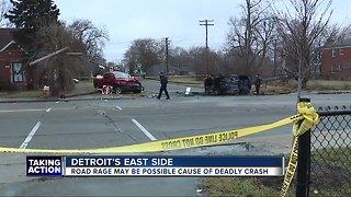 Woman killed, man in custody in deadly crash on Detroit's east side