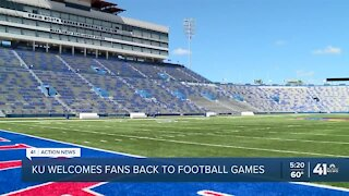 KU welcomes fans back to football games
