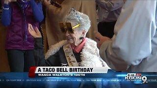 Wanda Walston's 100th birthday celebration at Taco Bell