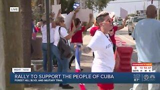 Cuban Americans hold rally near West Palm Beach