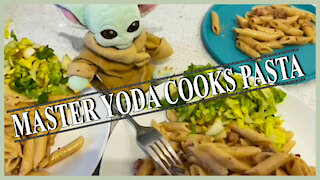 Master Yoda is helping us cooking pasta!