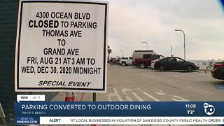 Pacific Beach parking to be converted to outdoor dining