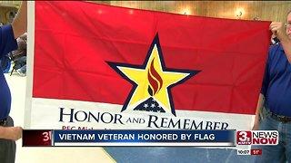 Vietnam veteran honored with memorial flag