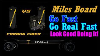 Miles Boards Go Super Fast Electric Skateboards