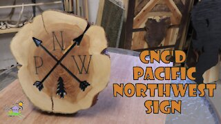 Pacific Northwest CNC'd Sign