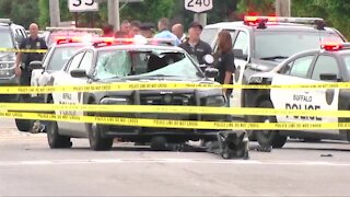 Buffalo police officer remains in critical condition after crash in Cheektowaga