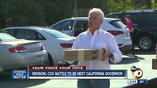 Newsom, Cox battle to be next California governor