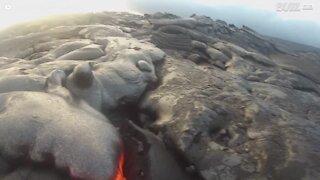 GoPro overlever at blive fanget i lava fra Kilauea vulkanen!