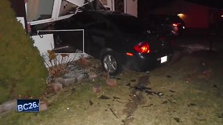 Police: Car crashes into living room, driver arrested