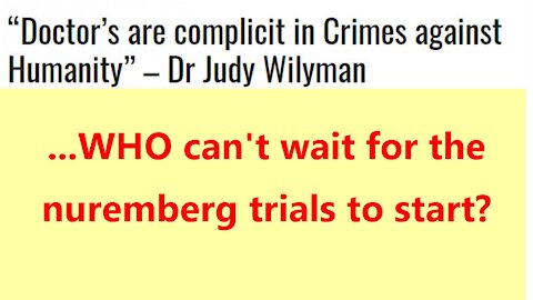 ...WHO can't wait for the nuremberg trials to start?
