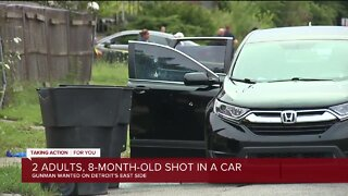 Woman, man, and 8-month-old injured in Detroit shooting
