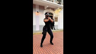 Dance with cute security