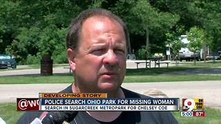 Police search Ohio park for missing woman
