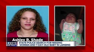 State Police search for missing woman and 7-day old baby in Lansing