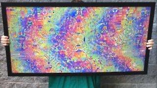Artistas criam arte lenticular psicodélica