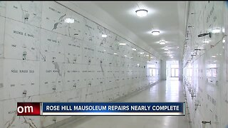 Rose Hill Mausoleum repairs nearly complete