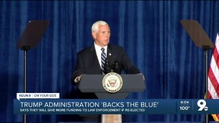 """Vice President Pence visits Tucson with a message to """"Back the Blue"""""""
