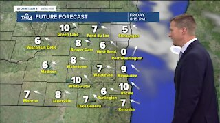 Friday warms up to nearly 30 with partly cloudy skies