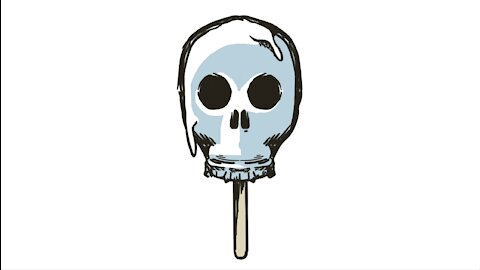Pop Skull Popsicle Time-Lapse Illustration
