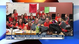 Good morning from the Fallston High School Girls Basketball Team!
