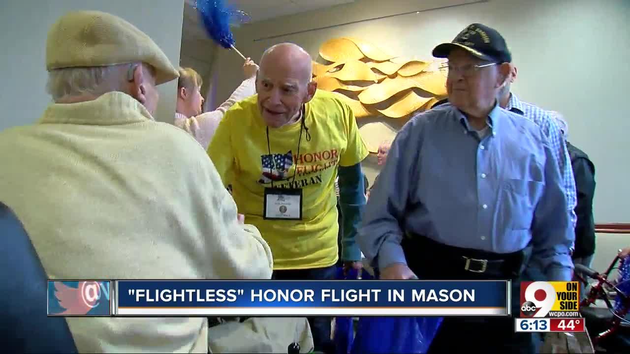 Fifty veterans honored in 'flightless' Honor Flight