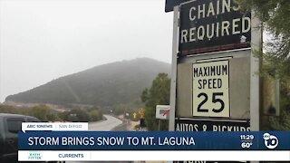 Storm brings snow to Mt. Laguna