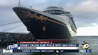 Disney Cruise ship arrives in San Diego one day early