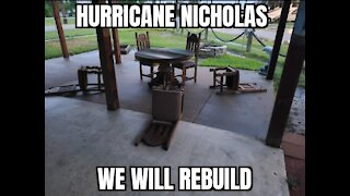 Hurricane Nicholas on SV Imagine aftermath and neighbors checking up on each other.