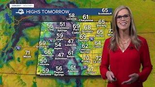 Warm weather returns for Denver tomorrow