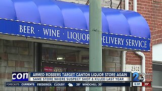 Armed robbers target Canton liquor store again