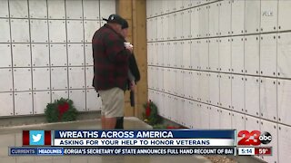 Wreath Across America asking for wreath sponsors