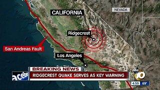 Ridgecrest quake serves as key warning