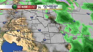 Briefly warmer temperatures before a cooler, wetter weekend