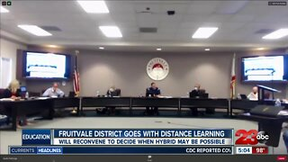 Fruitvale School District goes with distance learning