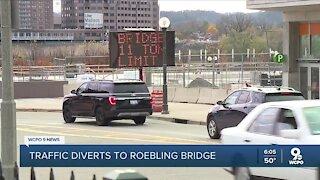 Roebling Bridge: Brent Spence closure diverts traffic to other bridges