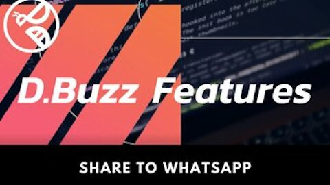 D.Buzz Features : Share to Whatsapp